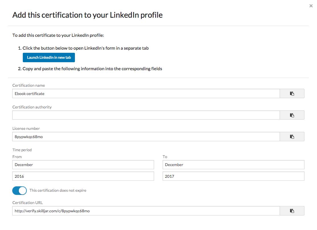 Enabling linkedin add to profile for certificates skilljar help screenshot2017 04 13at110725amg 1betcityfo Choice Image